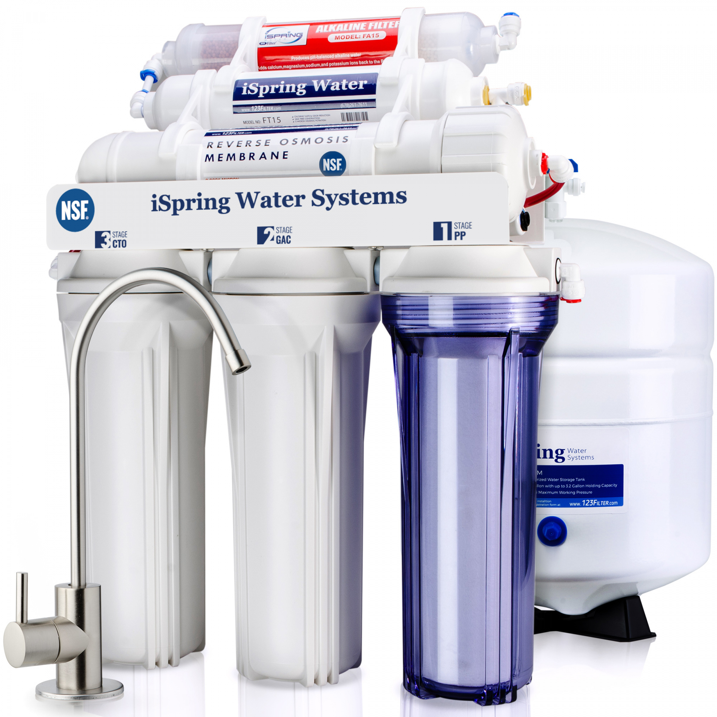 Reverse Osmosis 3 Stage Ro Unit Replacement Pre Filters Including Membrane 75gpd Fish & Aquariums