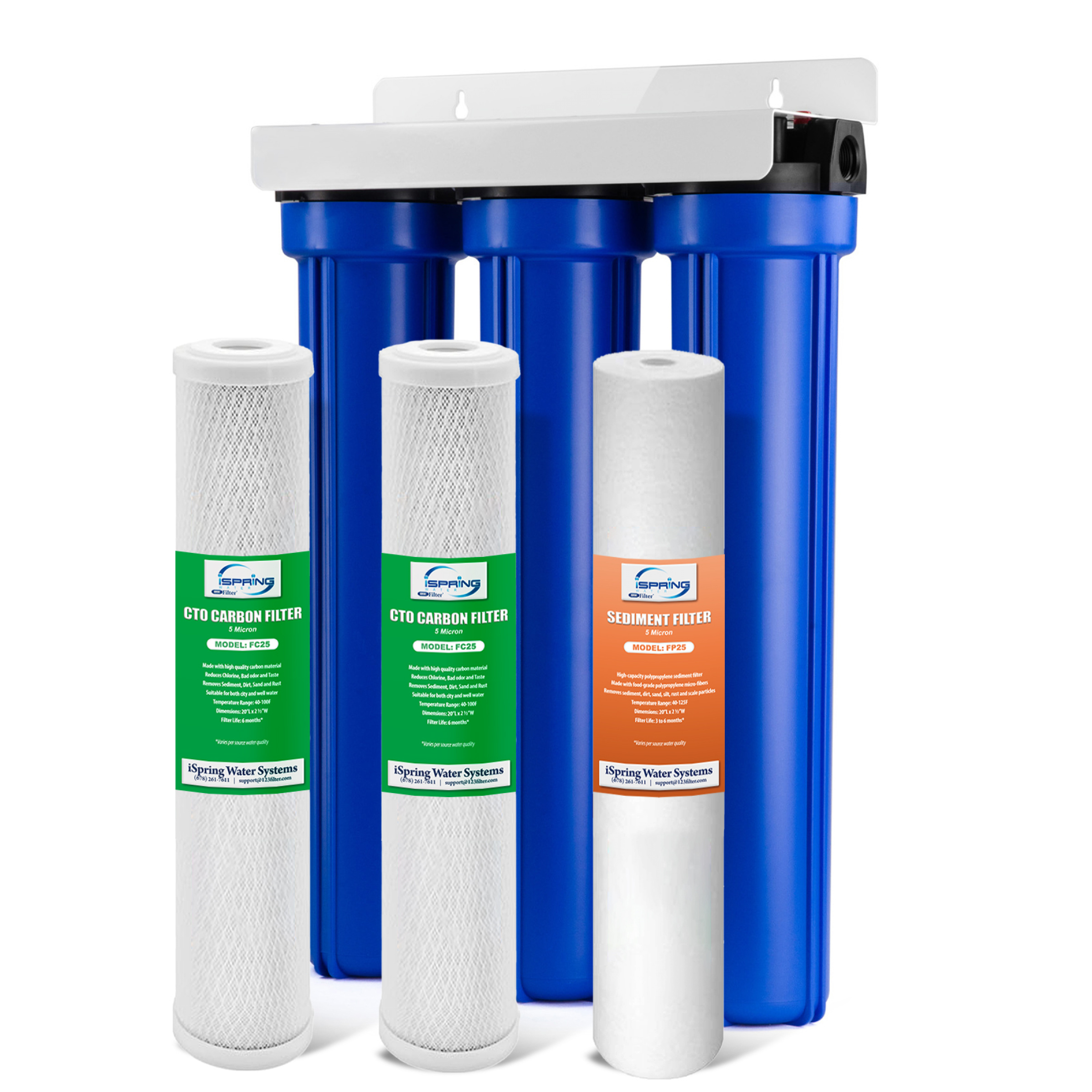 Ispring Whole House 3 Stage Water Filter System With