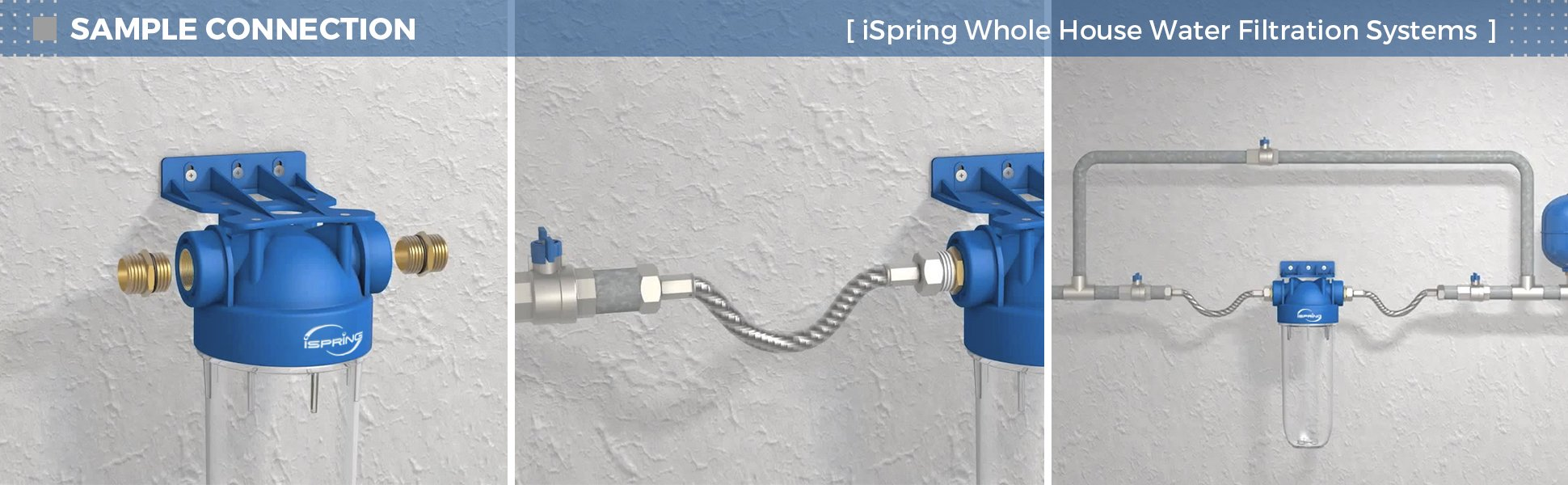 iSpring WGB21B 2-Stage Whole House Water, 4 5